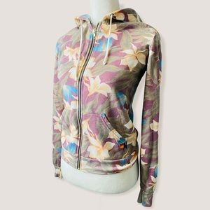 NWT Aviator Nation Woman Tropical Floral Hoodie